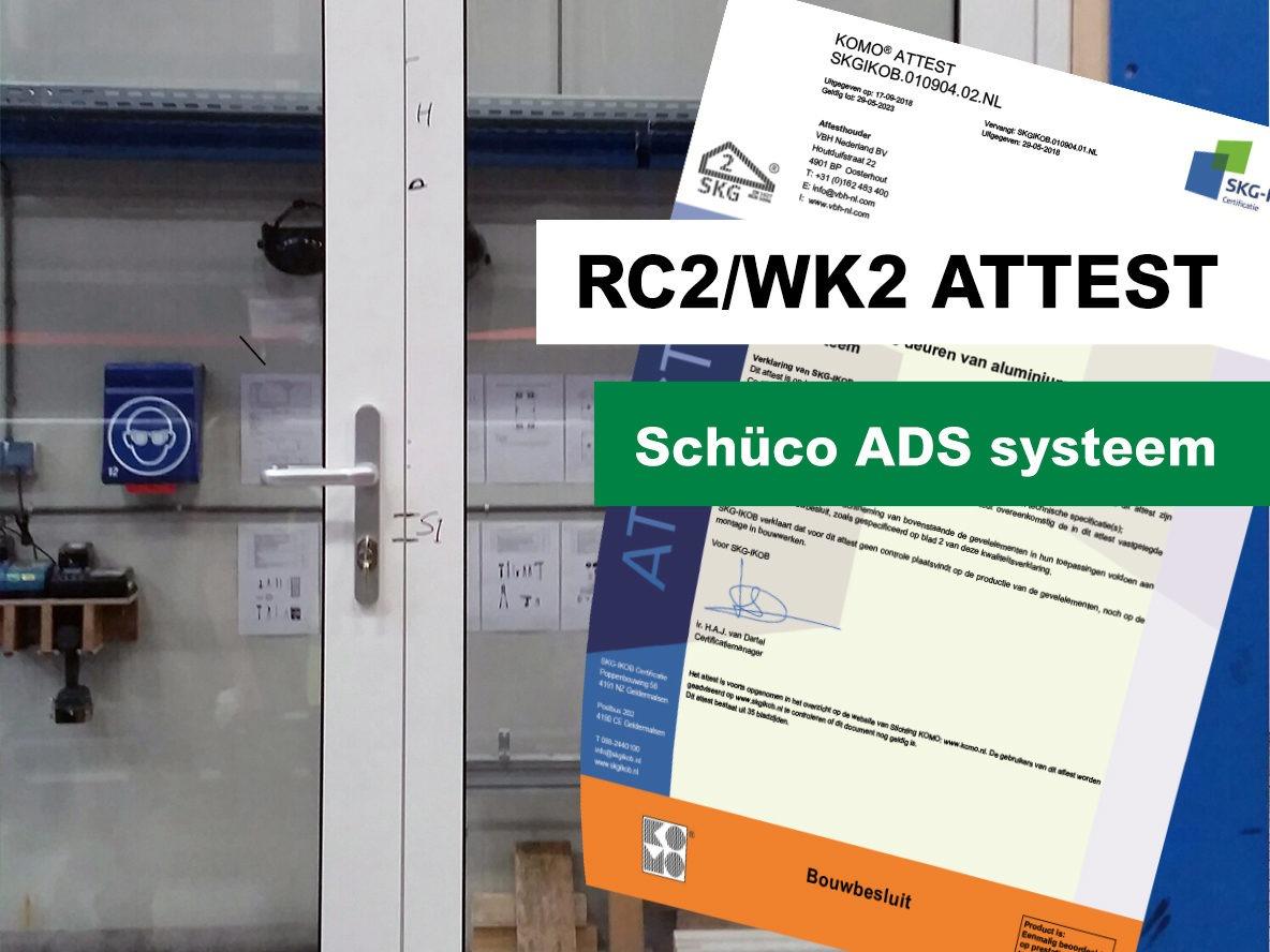 RC2/WK2-attest voor deuren